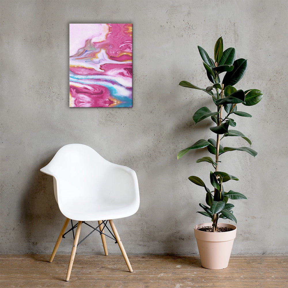 Pink and white Marble Canvas