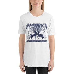 Forest Deer Holiday T-Shirt for Women