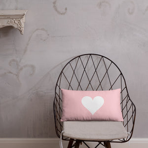 Valentine Heart Double-sided Throw Pillow