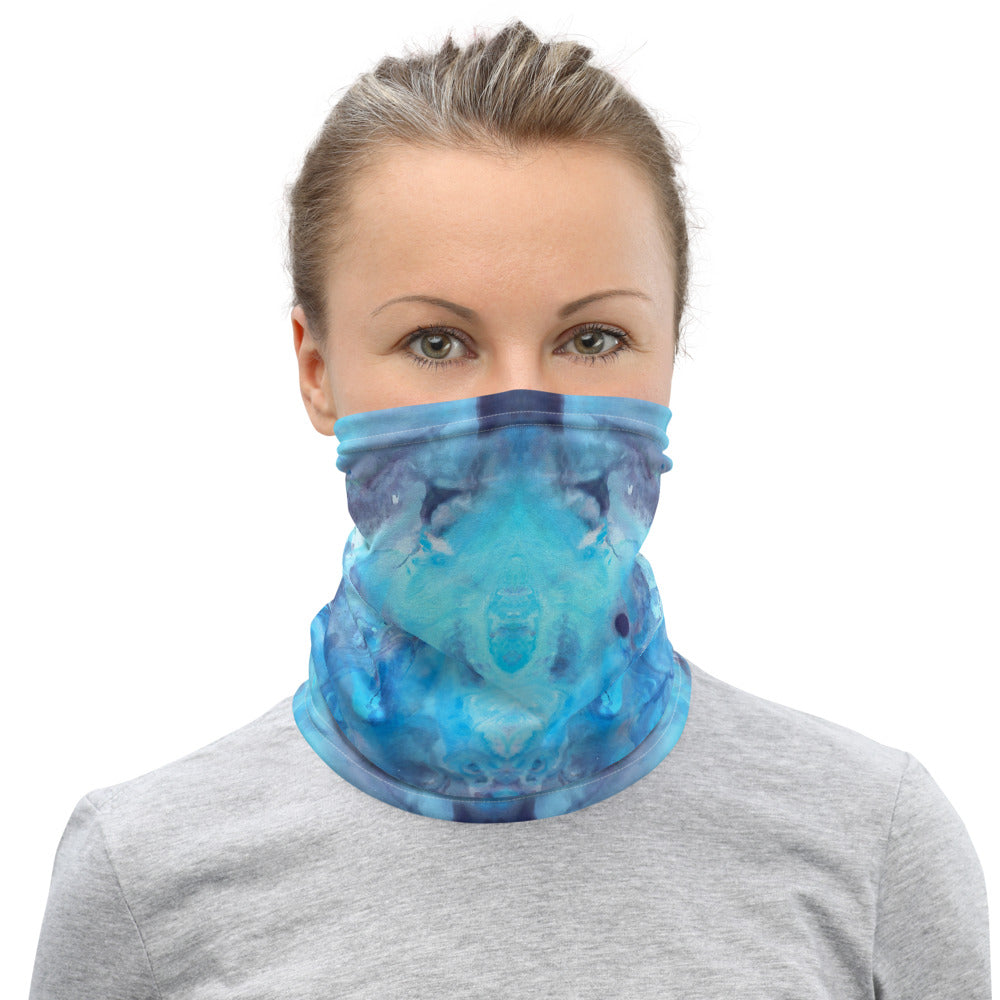 Summer Beach Marble Neck Gaiter Face Mask