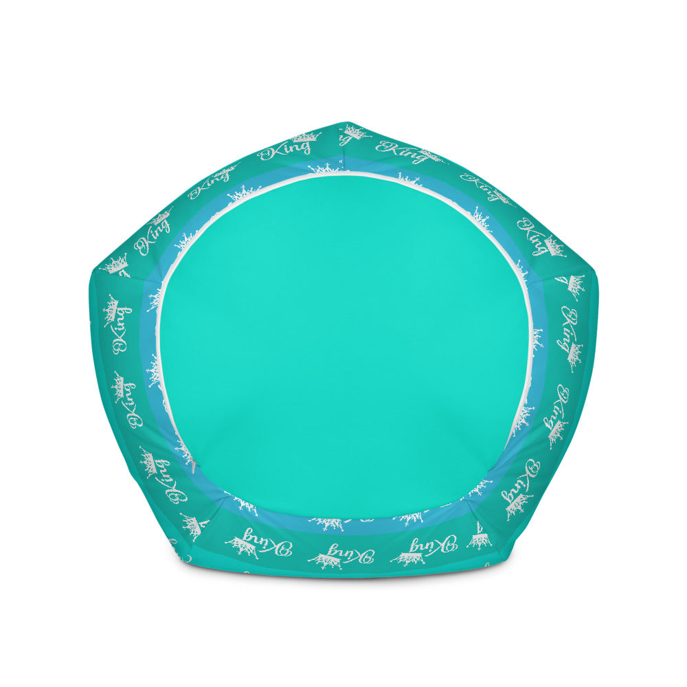 Turquoise Blue and Green King Bean Bag Chair w/ filling