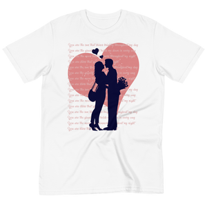 Valentine's Day Organic T-Shirt for Couple