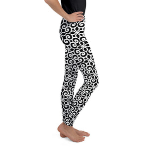 Floral Black Leggings for Girls Mynkoo.com