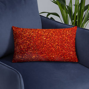Red and Gold Glittery Pillow
