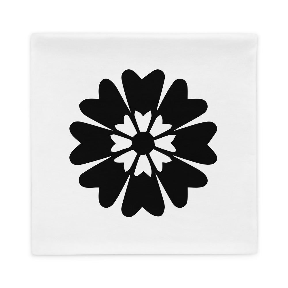 Black Floral Pillow Case