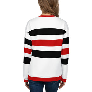Red, Black and White Sweatshirt for Women