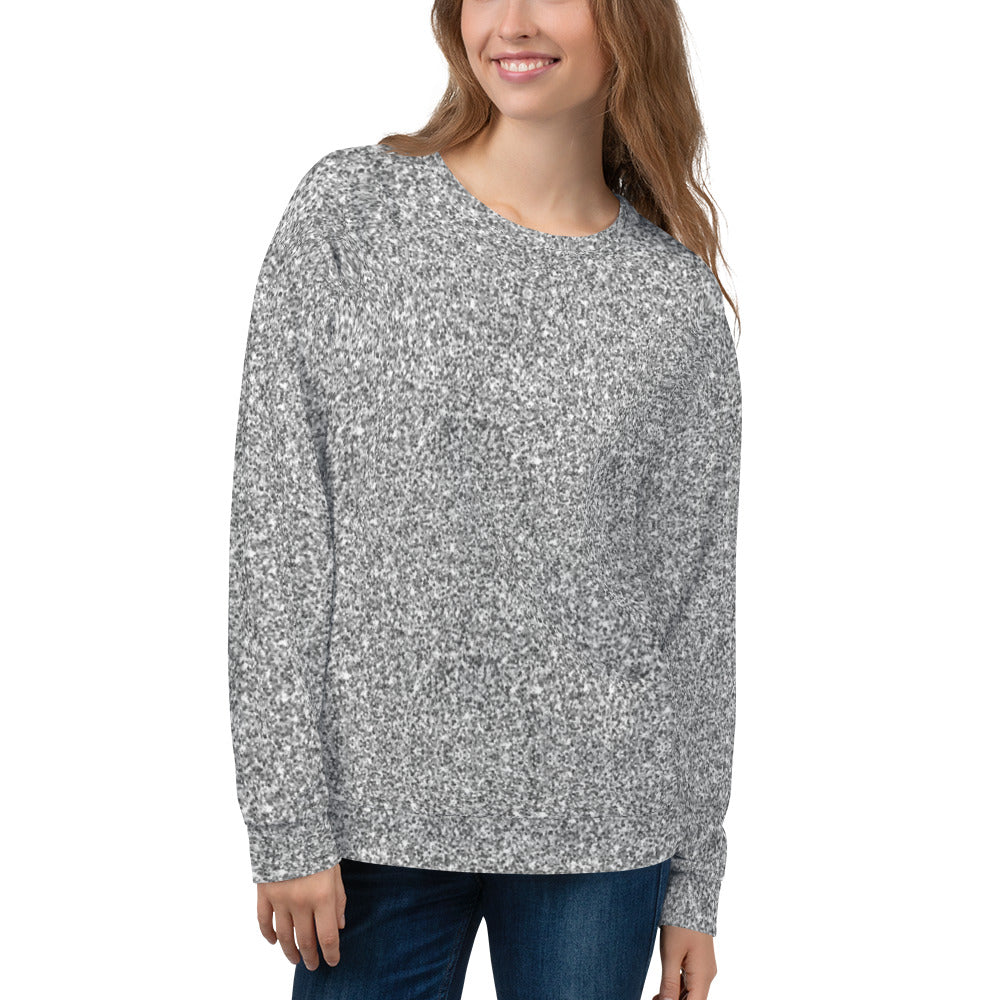 Silver Glittery Sweatshirt for Women