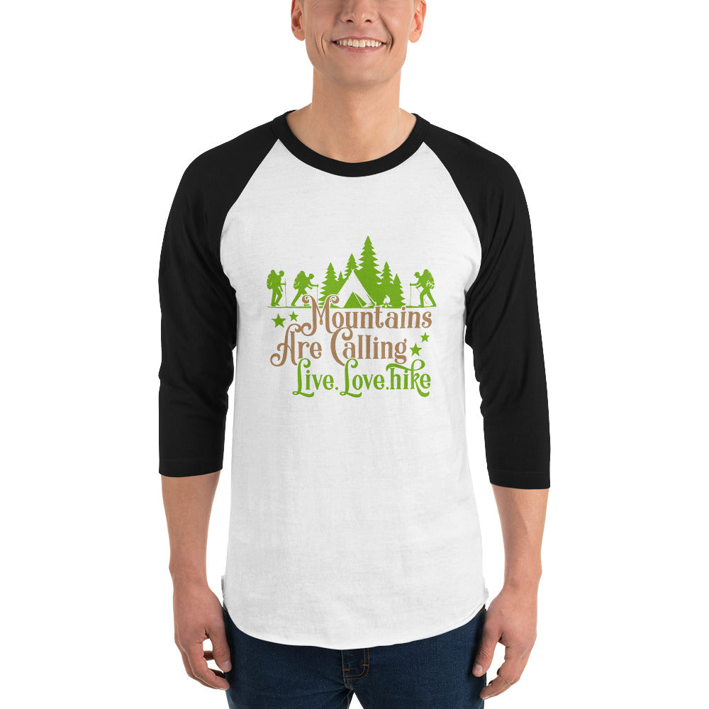 Mountains are Calling 3/4 Sleeve T-Shirt for Men