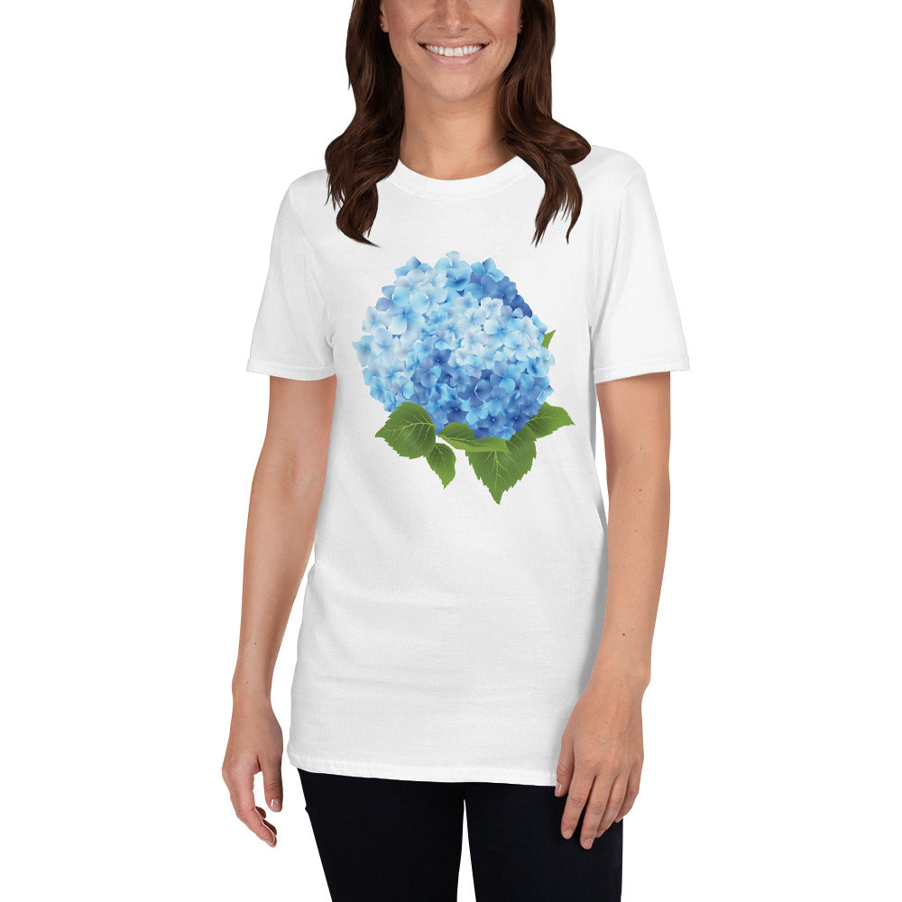 Blue Floral Spring T-Shirt for Women