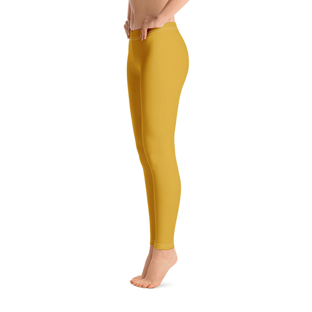 Golden Yellow Leggings for Womens Left
