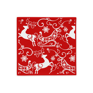 Reindeer Merry Christmas Pillow Case
