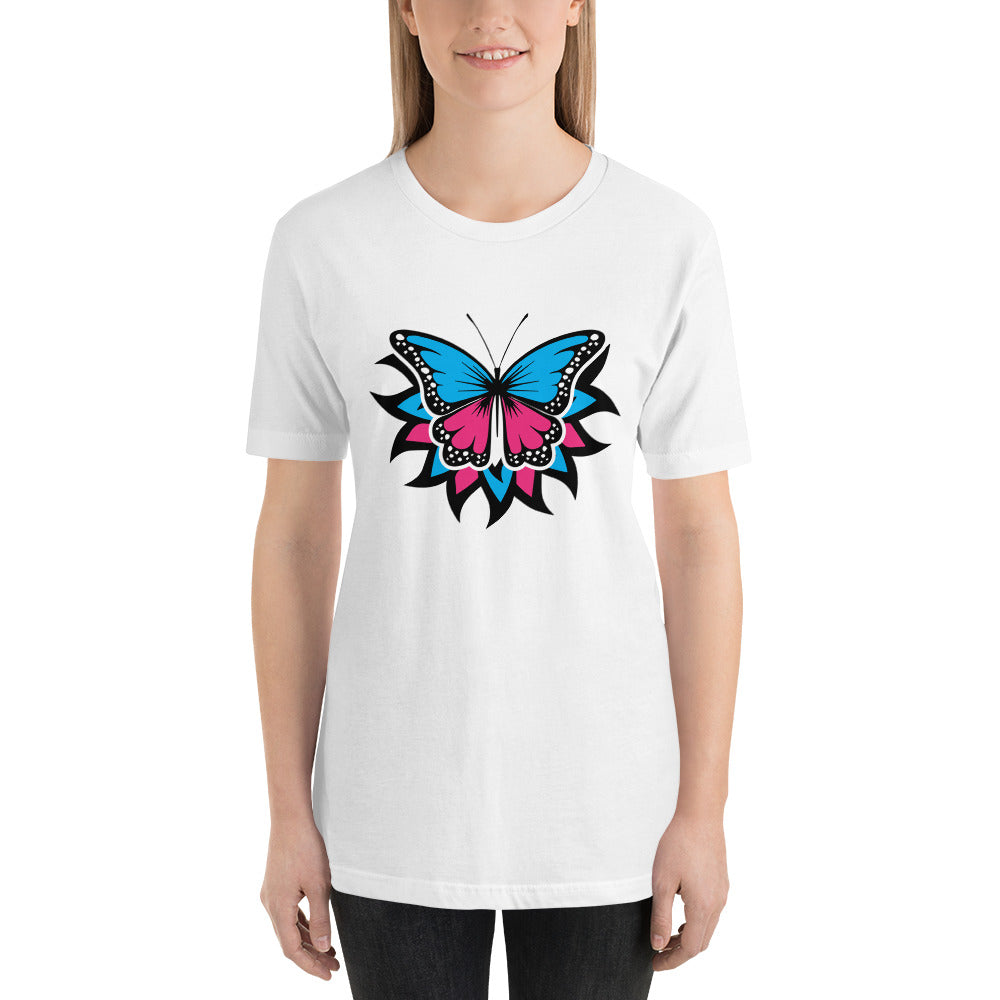 White T-Shirt with Butterfly
