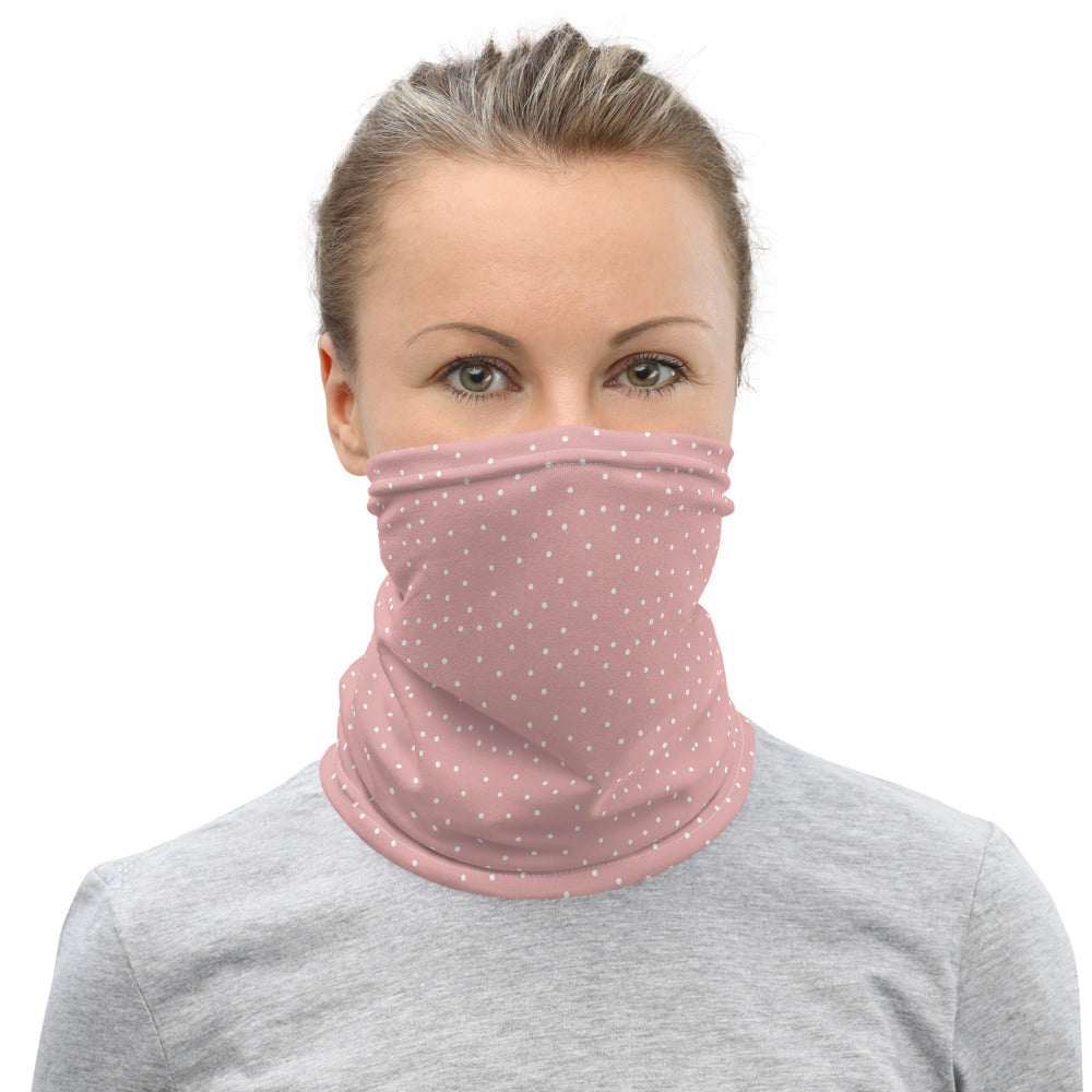 Pink Dot Face Mask Neck Gaiter for Women