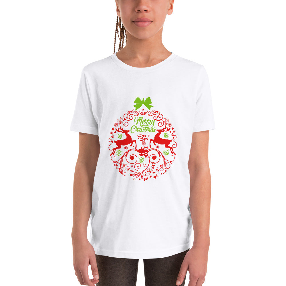 Reindeer Christmas Ball T-Shirt for Kids