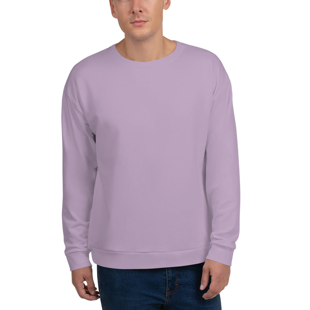 Lilac Color Unisex Sweatshirt