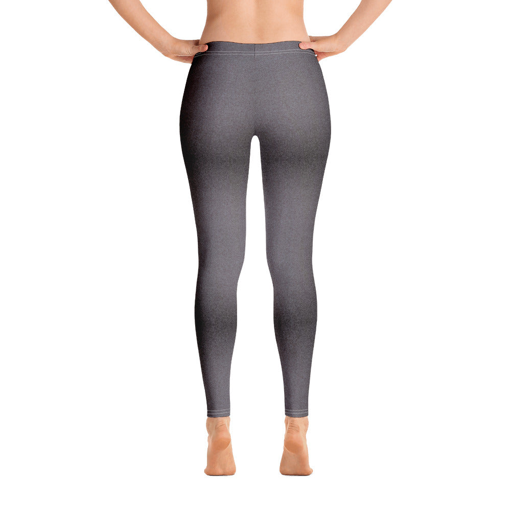 Black and Grey Shaded Denim Leggings back