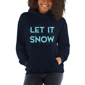 Let It Snow Women's Hoodie Pullover blue