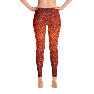 Red and Orange Glittery Leggings