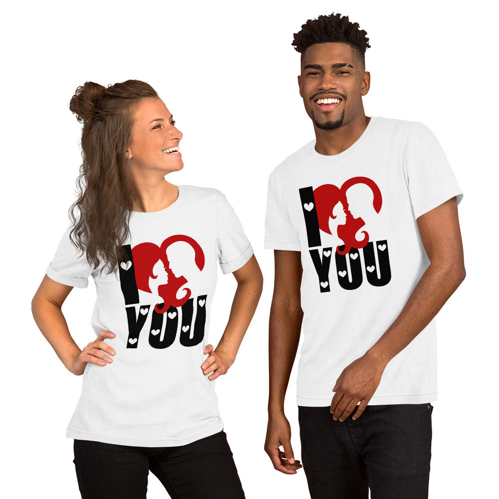 Couple wearing Valentine's Day T-Shirt