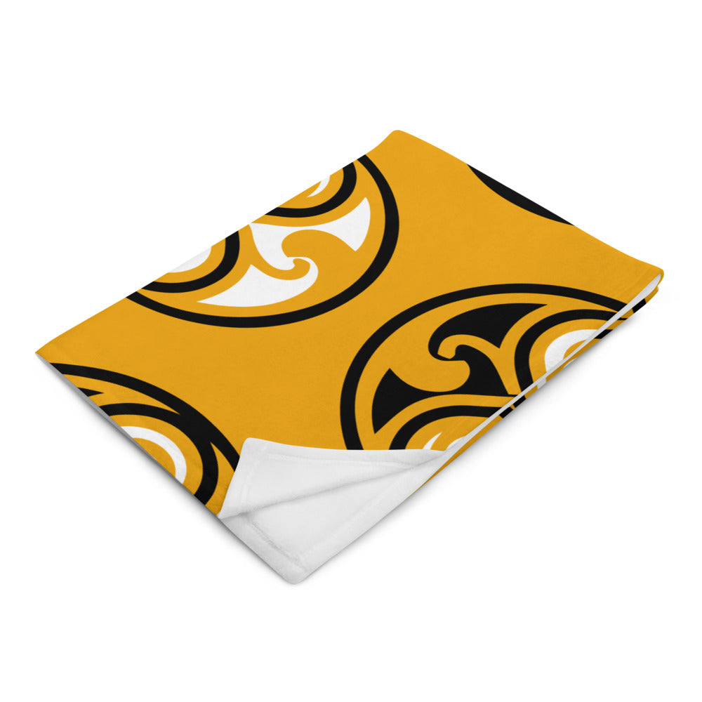 Yellow Geometrical Design Throw Blanket