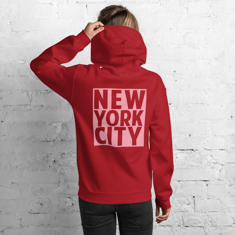 New York City Red Hoodies for Women