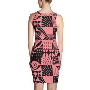 Pink and Black Sublimation Cut & Sew Dress