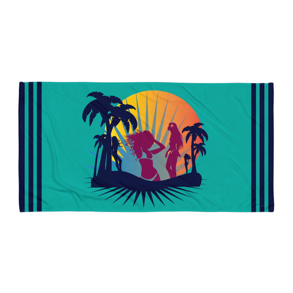 Tropical Beach Party Super Soft Towel