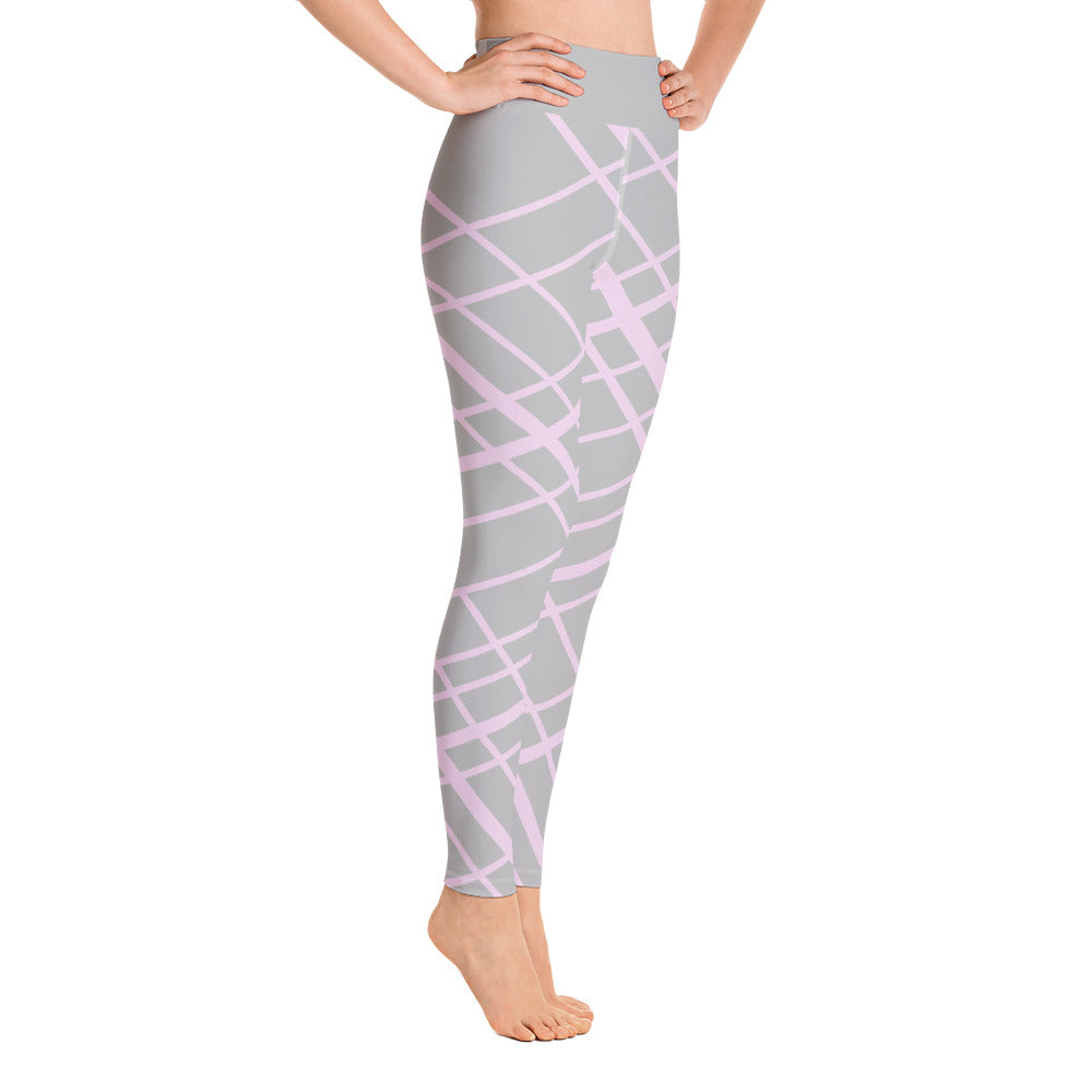 Pink Gray Yoga Leggings