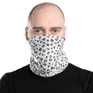 Alphabetical Pattern Neck Gaiter Face Mask