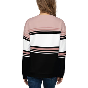 Pink Black and White Sweatshirt for Women