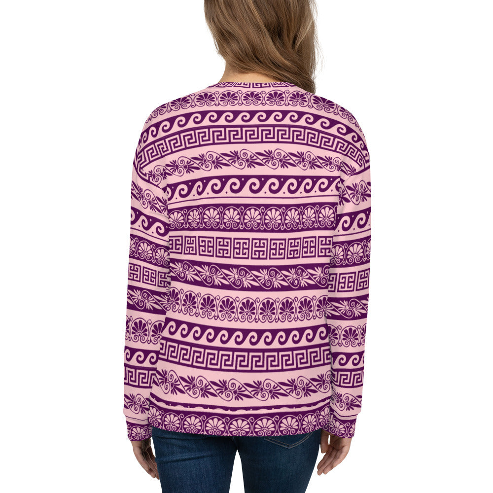 Pink and Purple Ethnic Unisex Sweatshirt