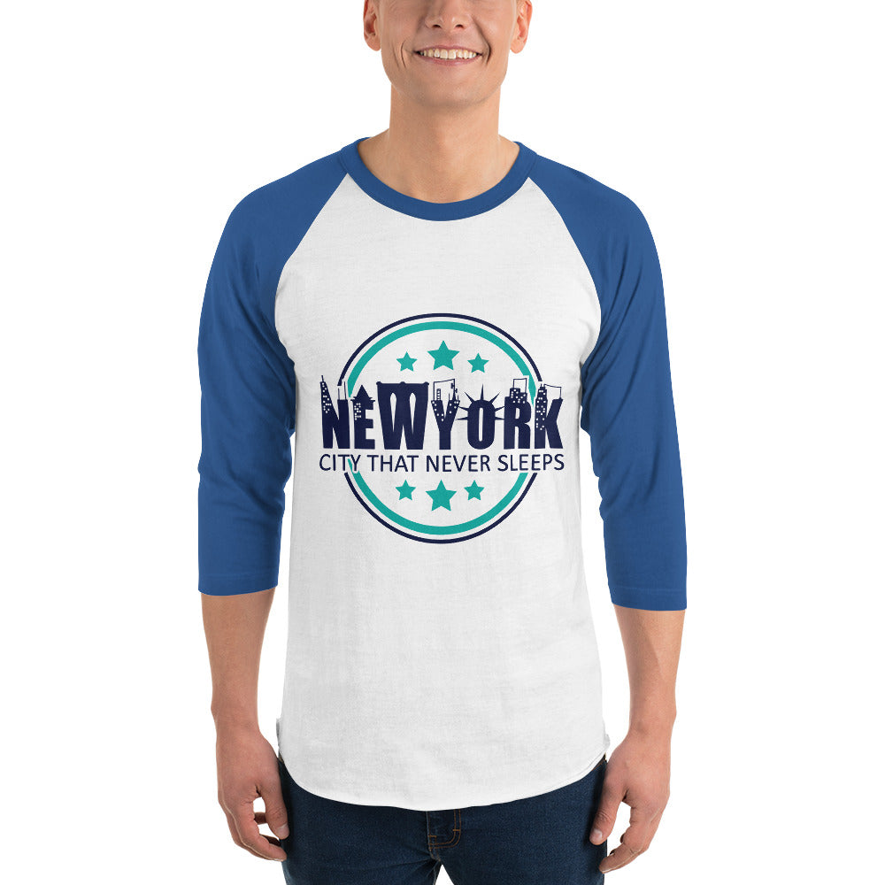 NEW YORK 3/4 sleeve raglan shirt for Men