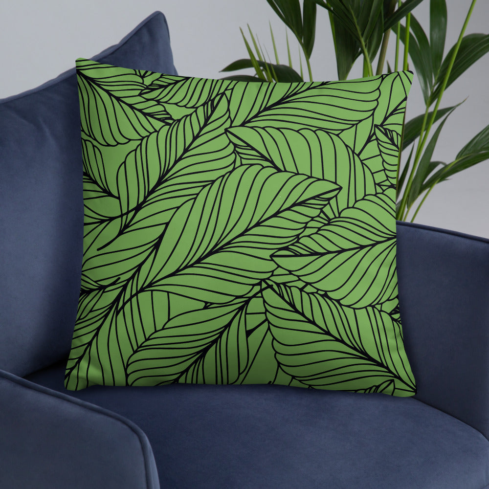 Green Leaf Double-sided Pillow