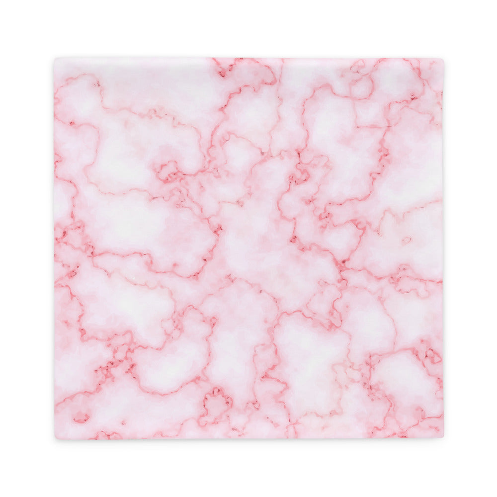 White and Pink Marble Pattern Pillow Case