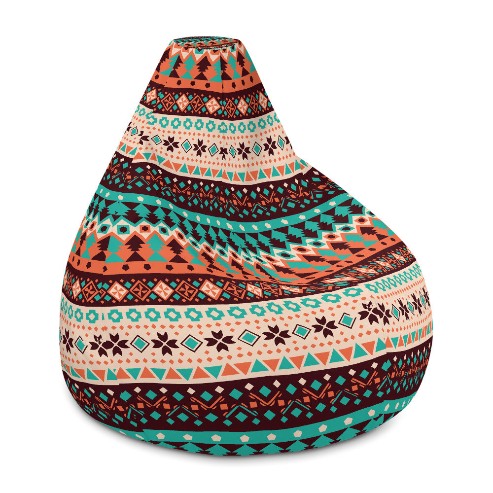 Ethnic Pattern Bean Bag Chair w/ filling