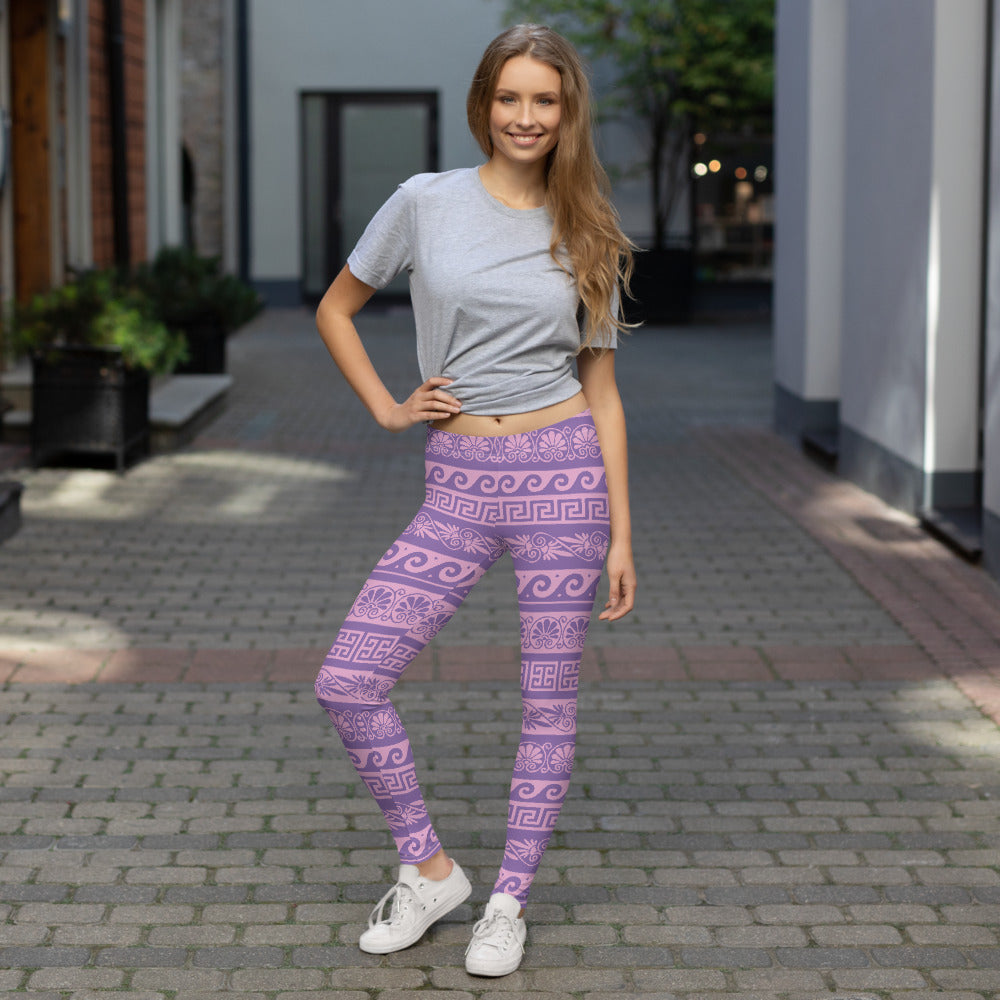 Pink and Purple Floral Leggings