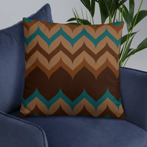 Dark Zigzag Pattern Throw Pillow