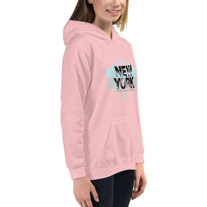 New York Pink Hoodies for Girls