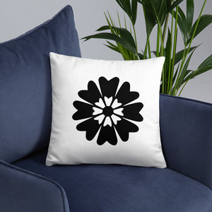 Black Floral Throw Pillows