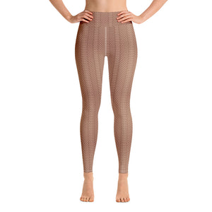 Brown Woolen Yoga Pants for Women