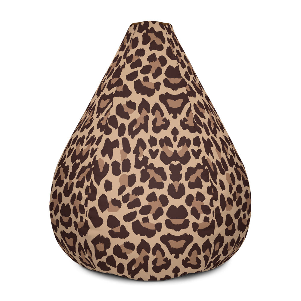 Brown Animal print Bean Bag Chair w/ filling