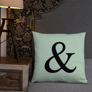 Symbol  Mint Green Throw Pillow