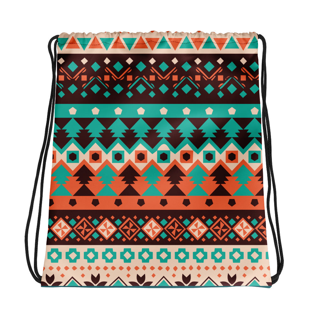 Ethnic Pattern Drawstring bag