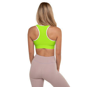 Neon Green Padded Sports Bra