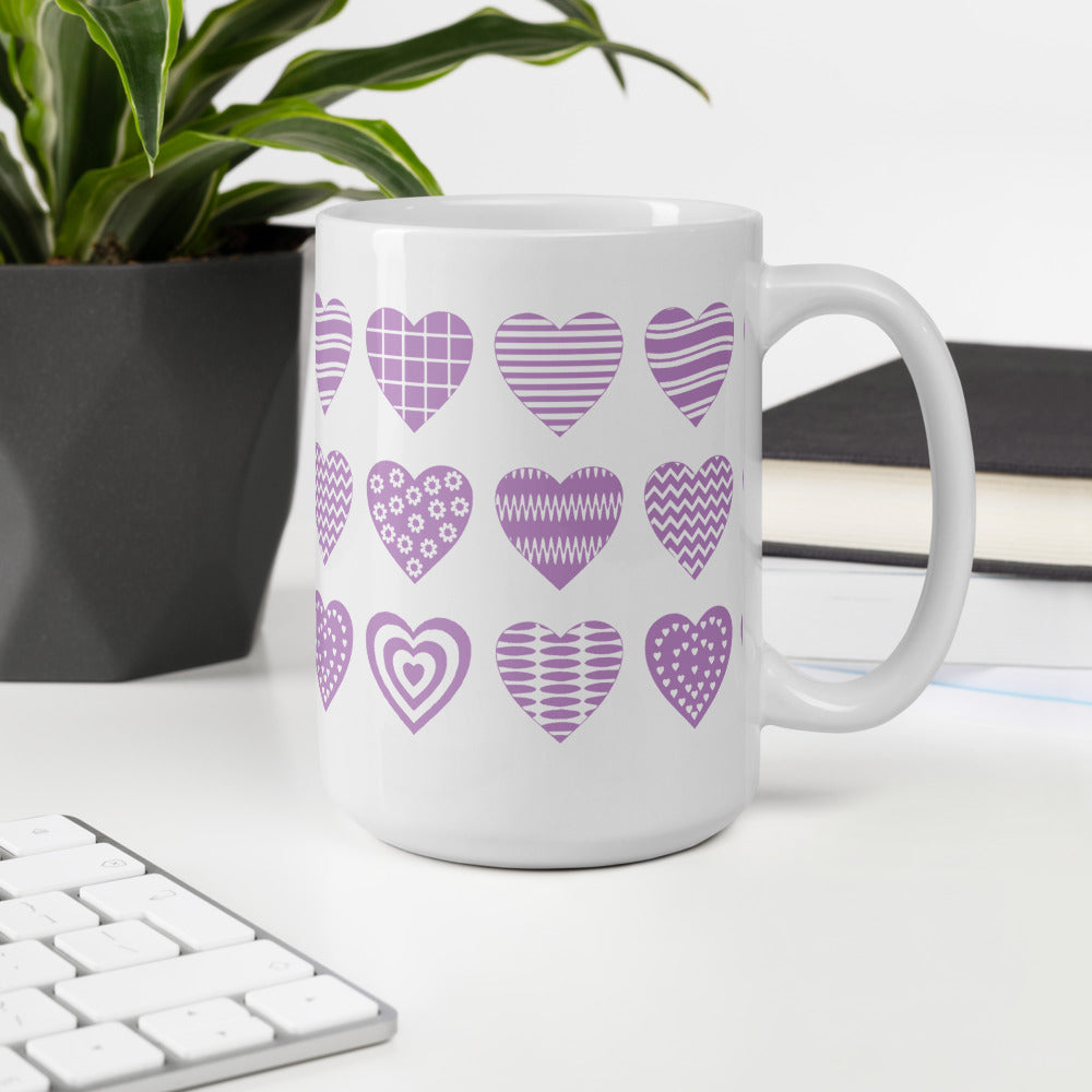Purple Heart Coffee Mug