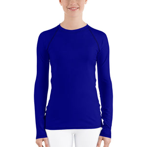 Navy Blue Women's Rash Guard