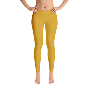Golden Yellow Leggings for Womens