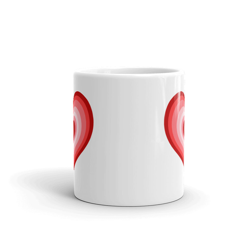 Valentine Red Heart Coffee Mug
