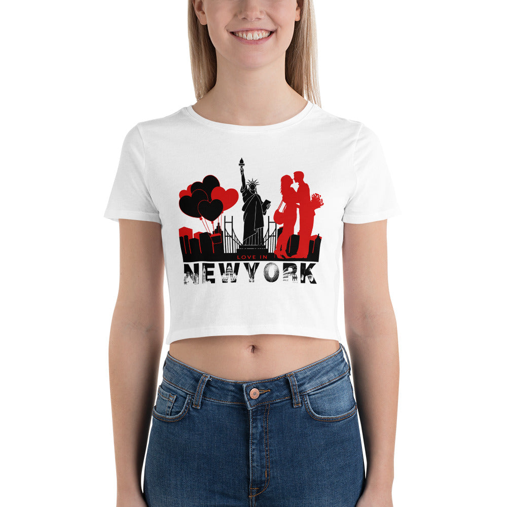 New York Couple Crop Top for Valentine's Day