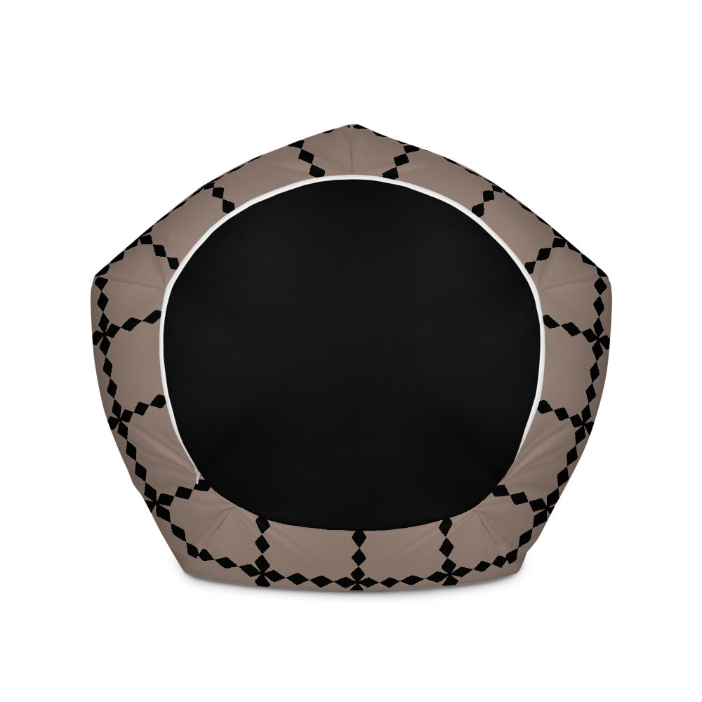 Brown and Black Bean Bag Chair w/ filling